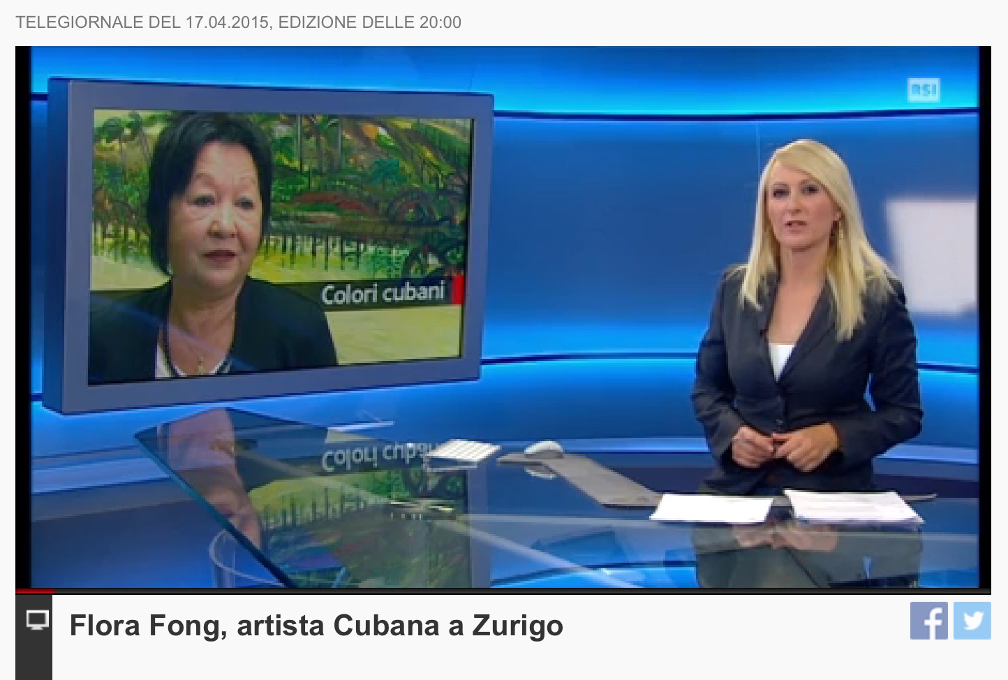 Flora Fong in Main News of television of Ticino