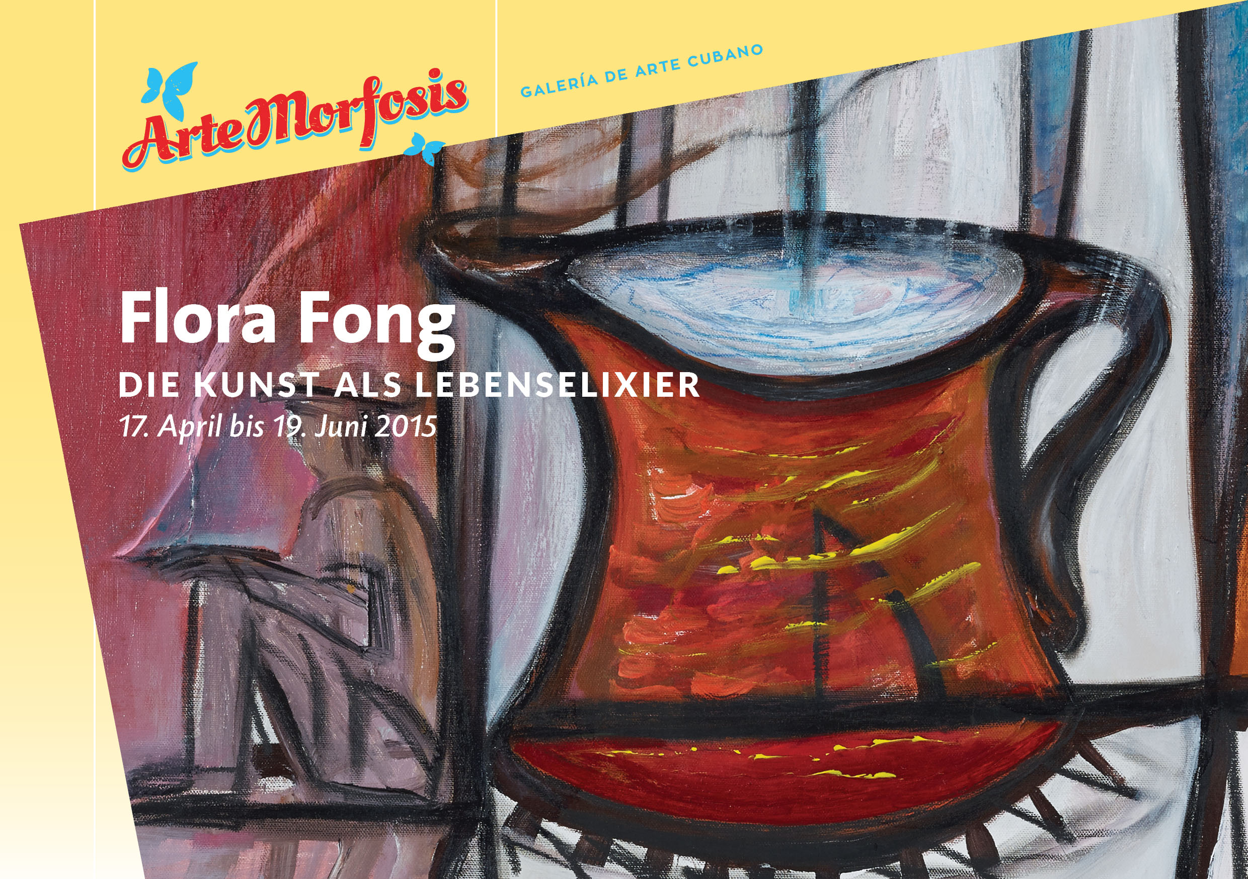 Invitation Card to Exhibitions of Flora Fong