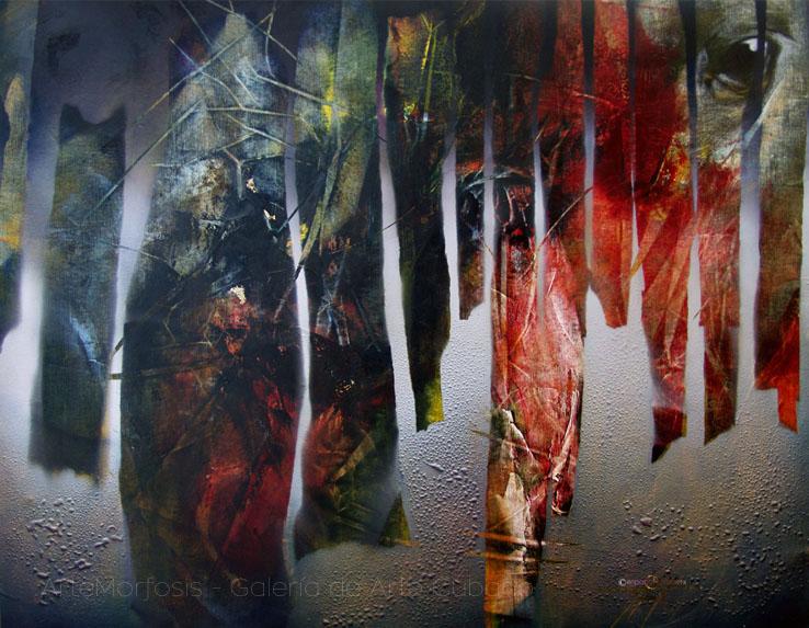 RAIN Acrylic and oil on canvas 100 x 120 cm 2005