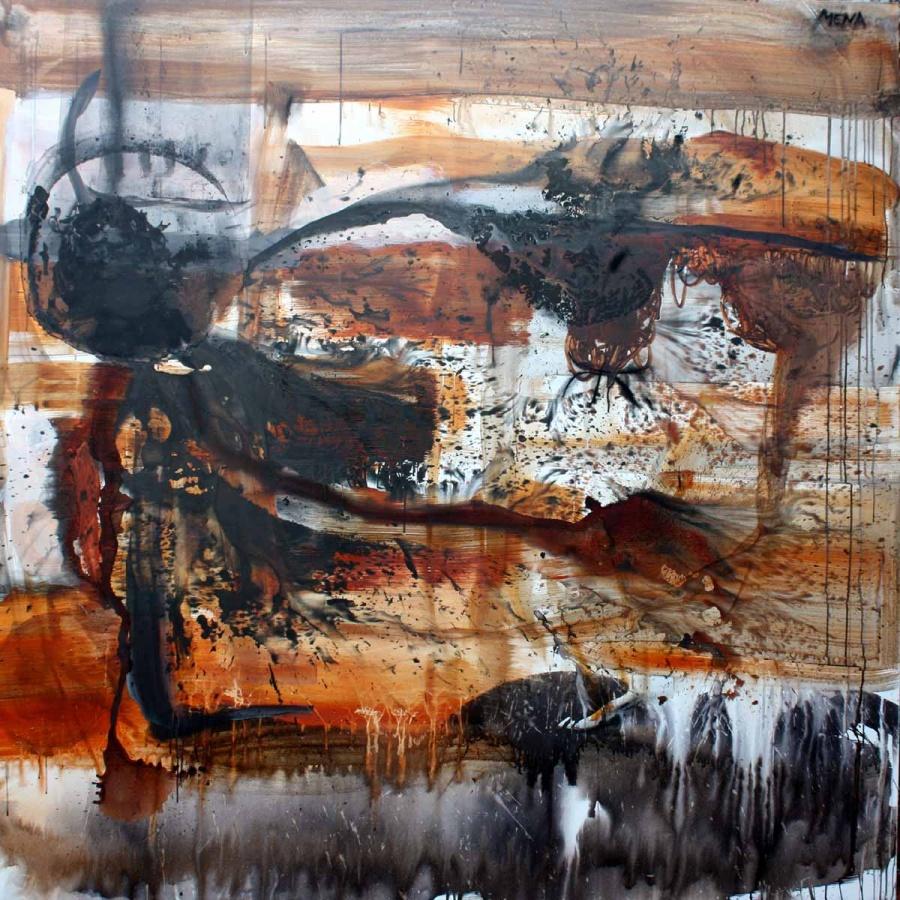 Rigoberto Mena, untitled, 2012, Mixed media on canvas