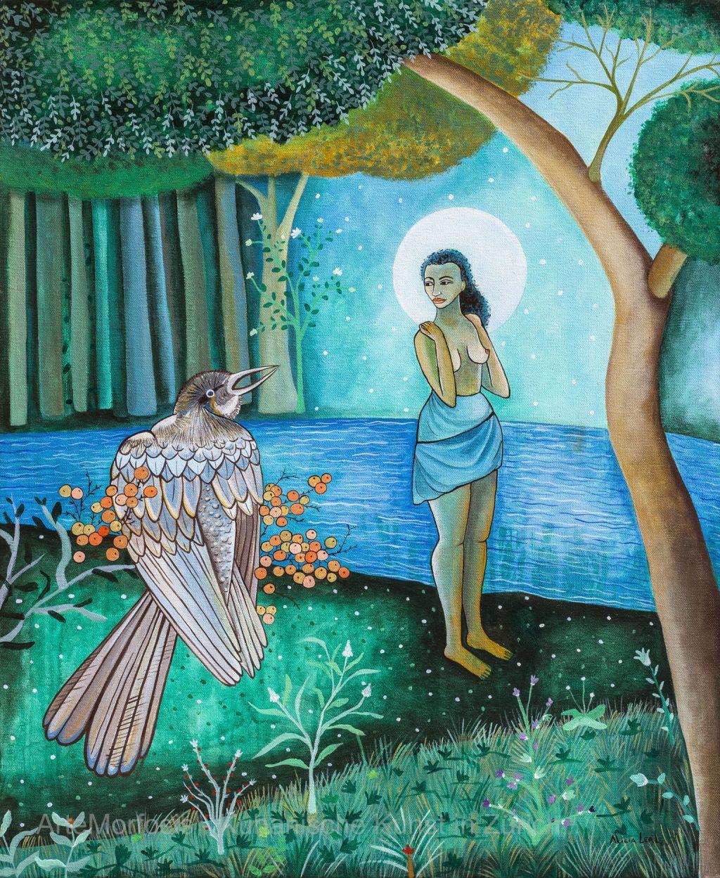 Baño de Luna - Mondbad - 2011 – Acryl auf Leinwand - 72,5 cm x 60,5 cm