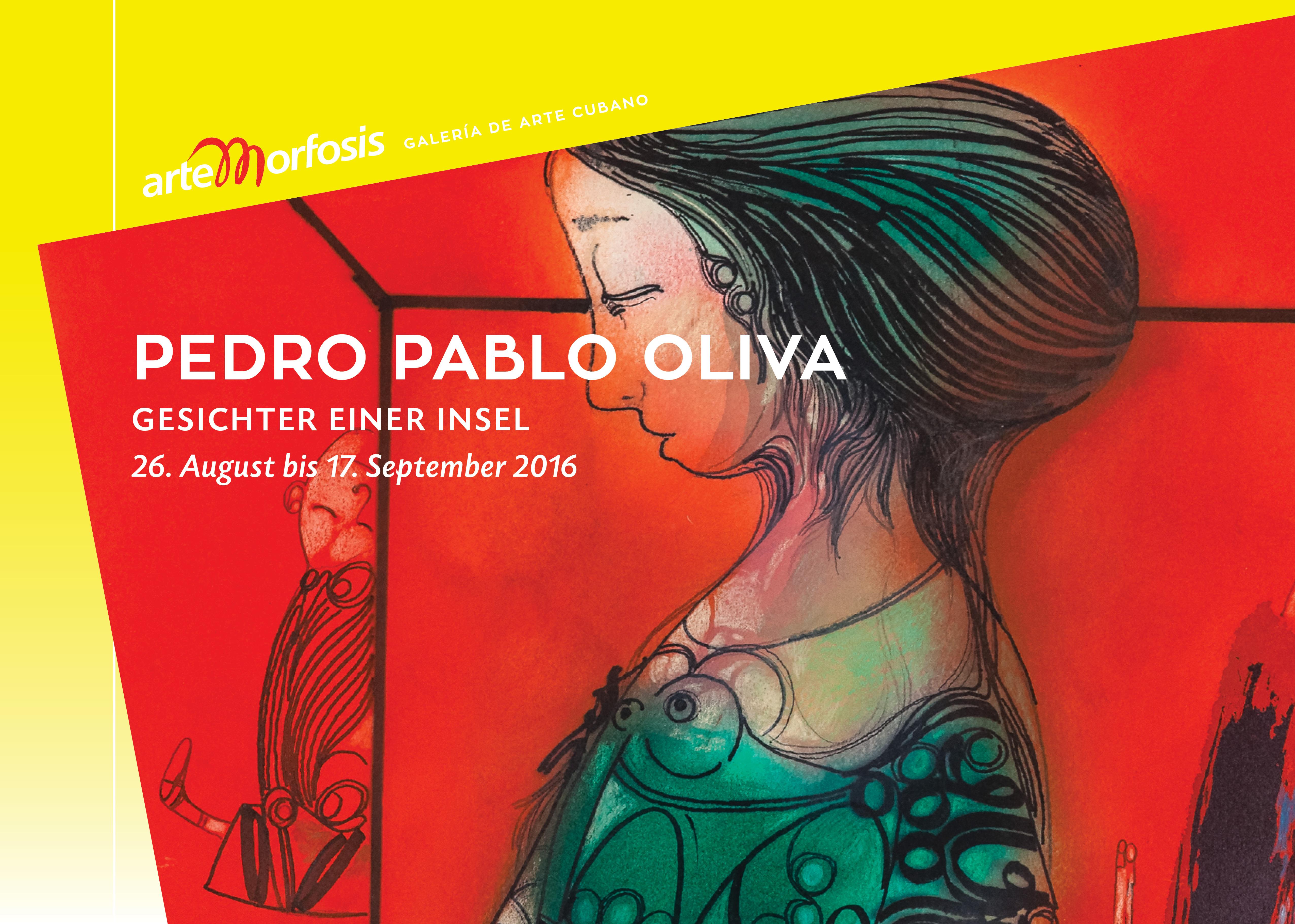 Pedro Pablo Oliva Einladungskarte - Gesichter einer Insel -