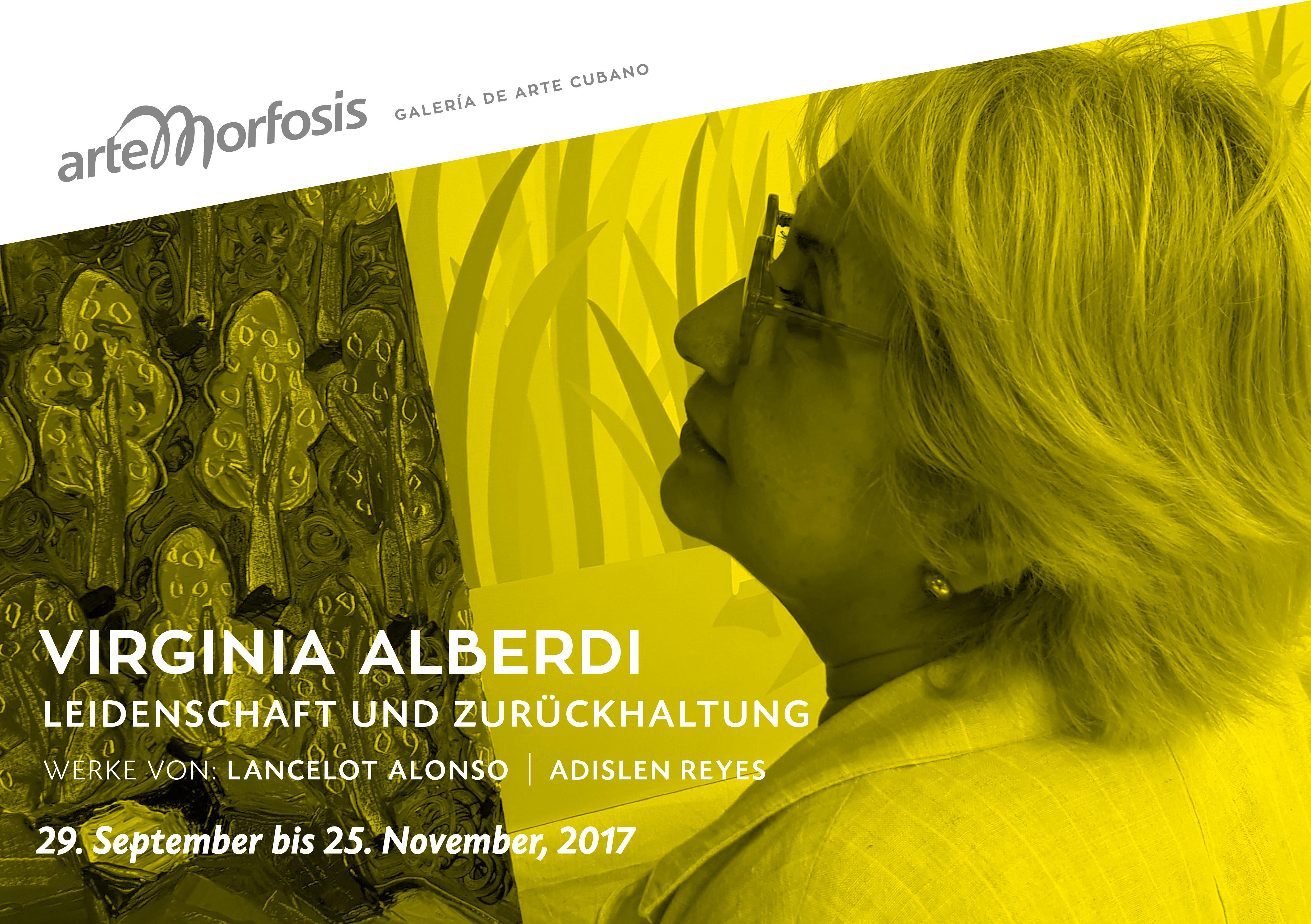 Virginia Alberdi - Einladungskarte Vorderseite