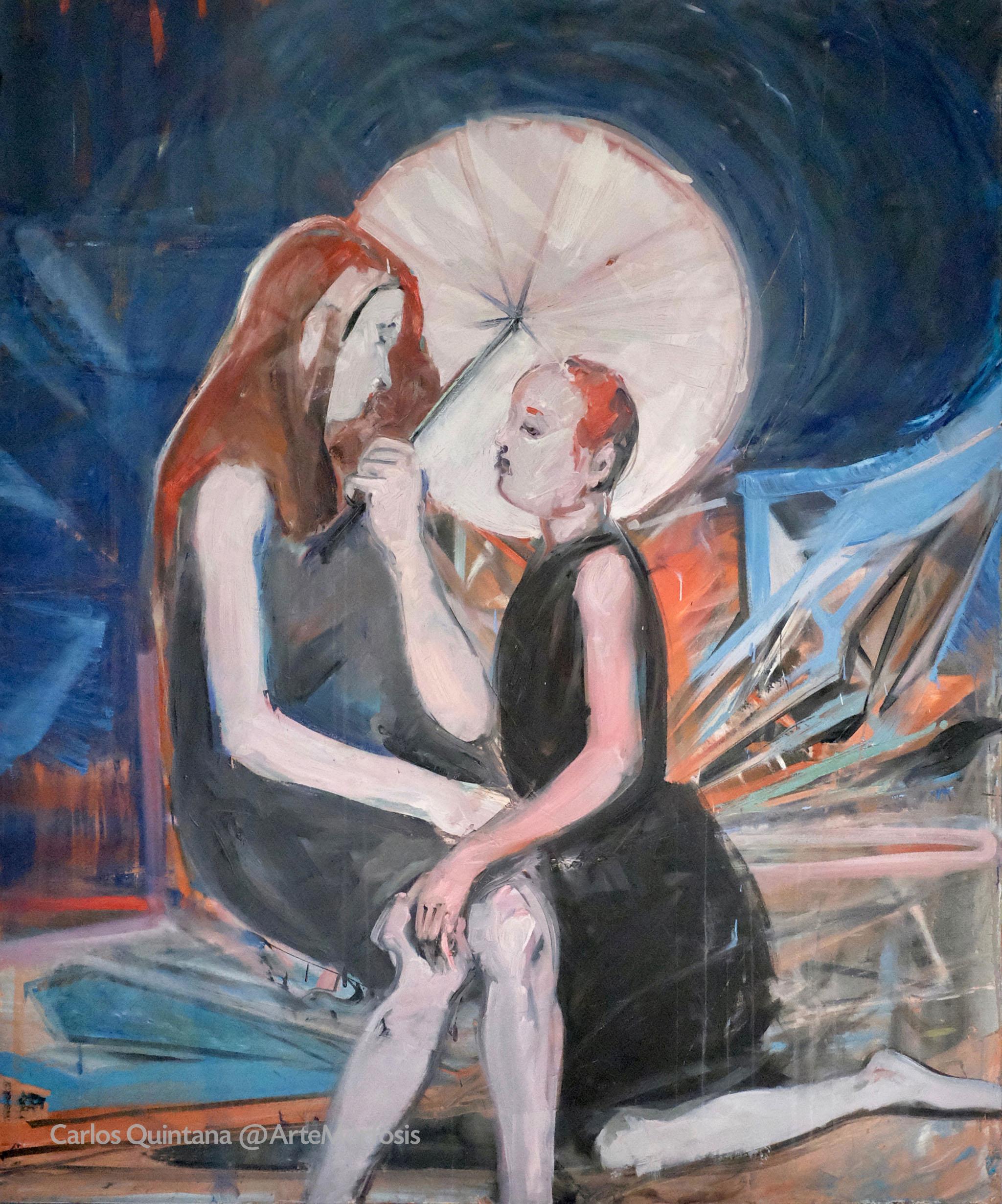 Ohne Titel | Sin título 2017, Öl, Tinte auf Leinwand | Óleo, tinta sobre tela 152 x 122 cm