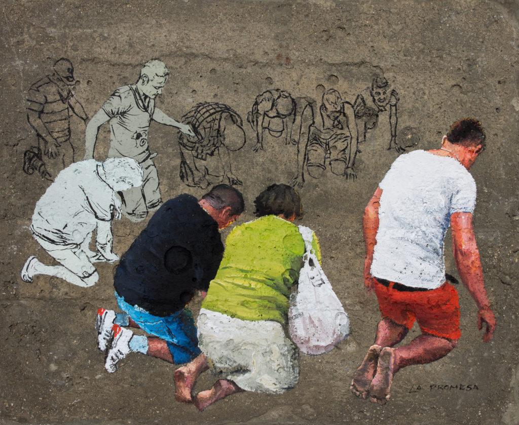Alejandro Gómez Cangas - La Promesa - Coache on Concrete - 25 x 30 cm