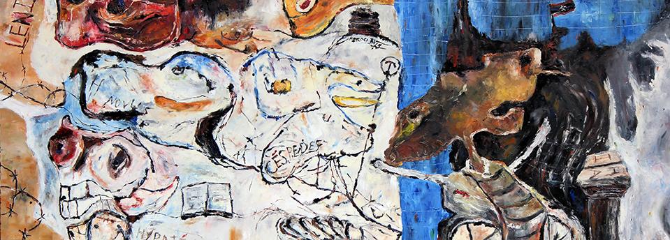 Detail of Las Prédicas de Parabacon by Miroslav de la Torre